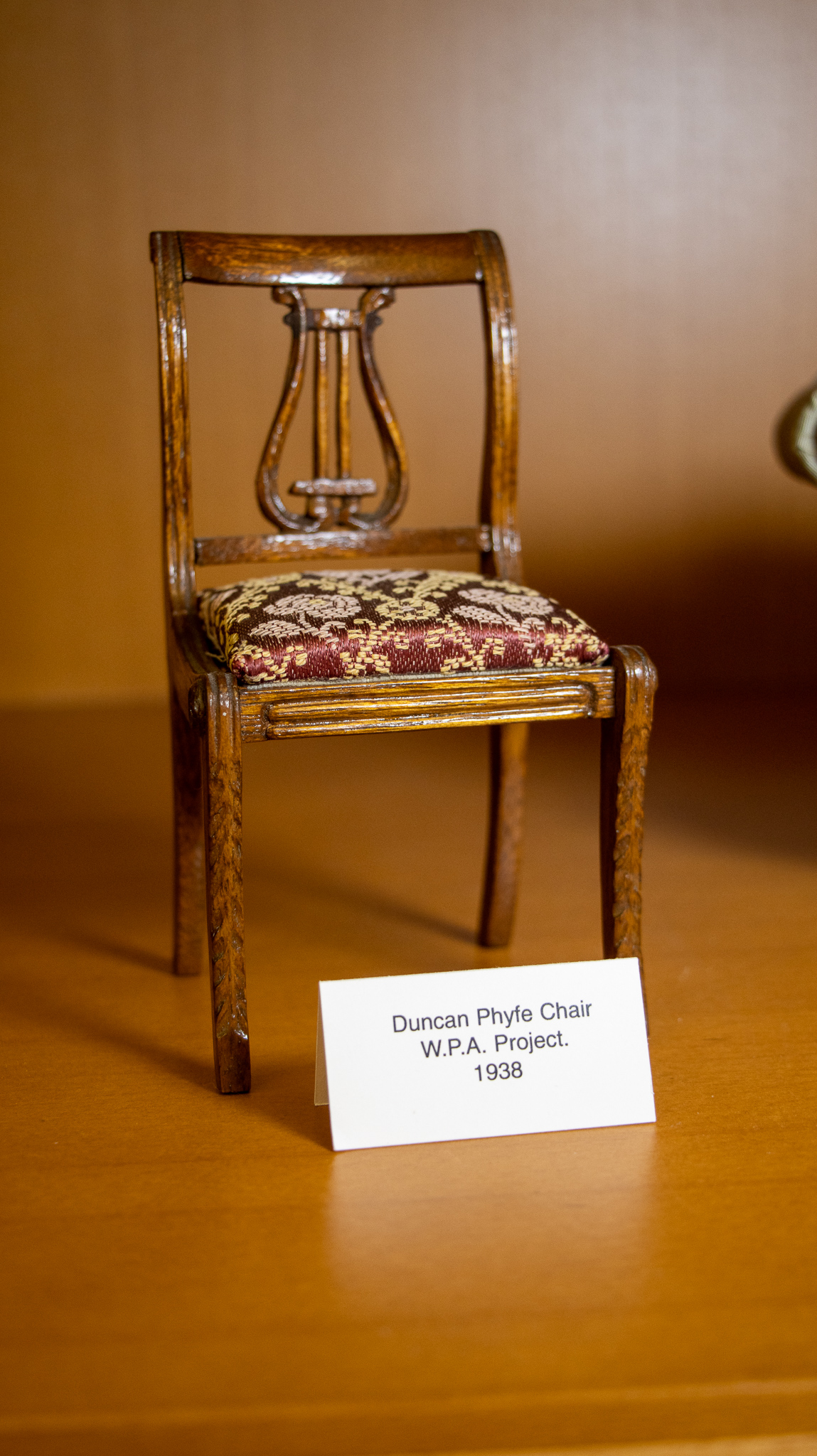 WPA Doll Furniture: Duncan Phyfe Chair, WPA Project, 1938